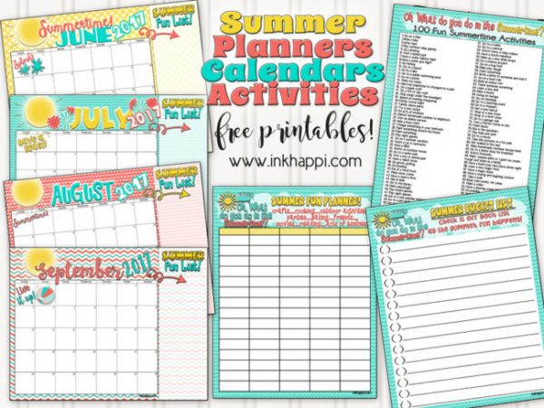 Free Summer Activity Printables from inkhappi.com