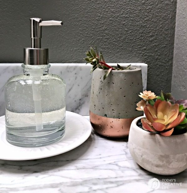 simple glass bathroom soap dispenser