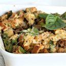 Breakfast Strata Recipe with Rye Bread & Sausage