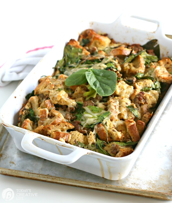 Breakfast Strata Casserole TodaysCreativeLife.com