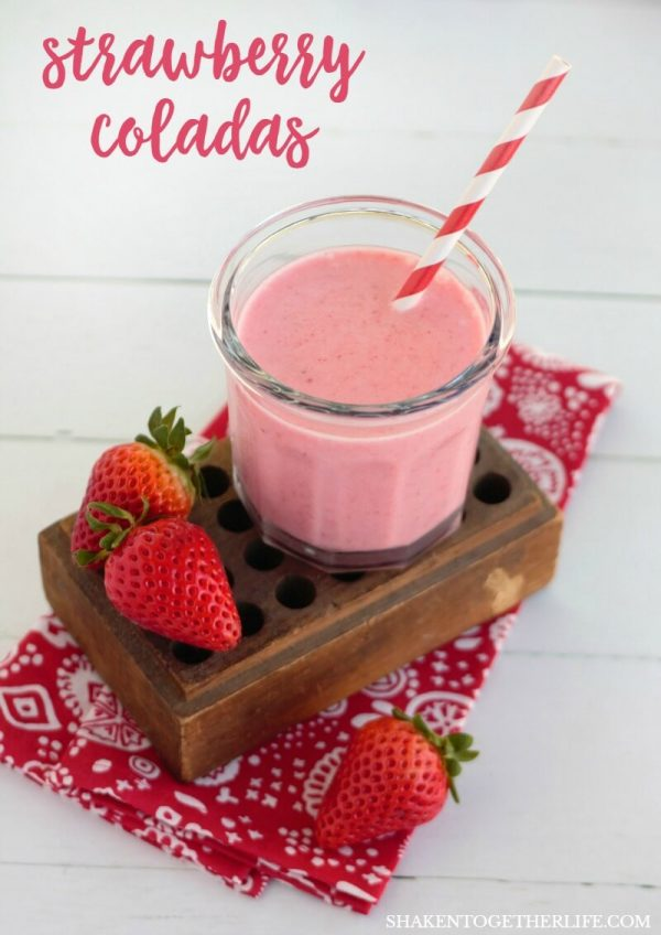 Creamy Frozen Strawberry Colada Drink