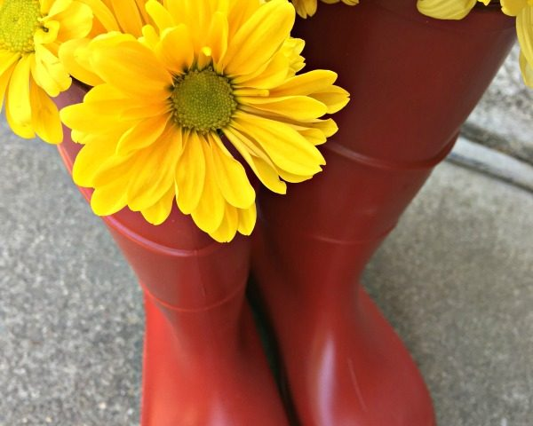 DIY Thrifted Rain Boots