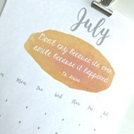 July 2017 Printable Calendar | Free Printable Calendar | Monthly Calendar | Home organizing | Click the photo for your free calendar. TodaysCreativeLife.com
