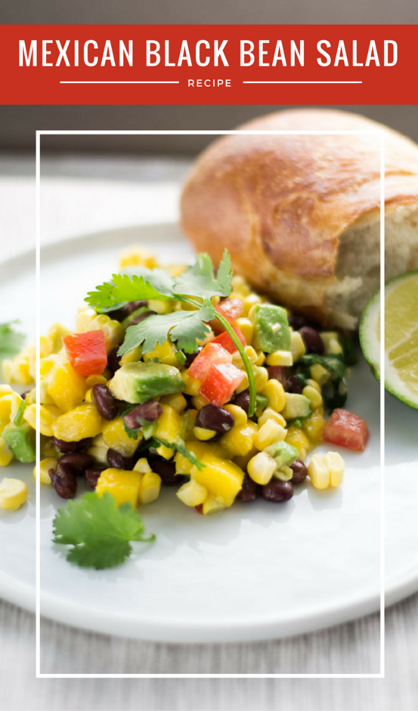 Mexican Black Bean and Corn Salad | Easy Summer Salads and side dish recipes | Fresh Mango, Avocado, tomatoes | WanderSpice.com for TodaysCreativeLife.com