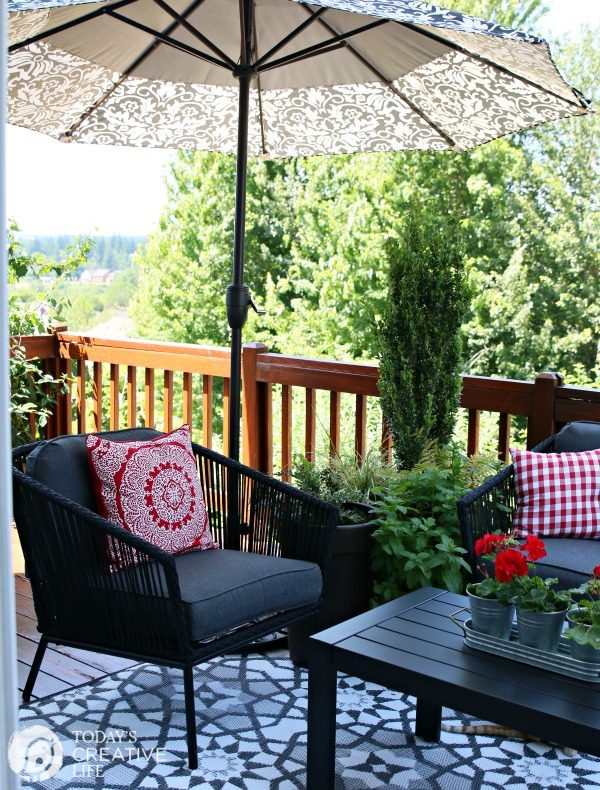 Small patio decorating ideas my patio today 39 s creative for Simple patio decorating ideas