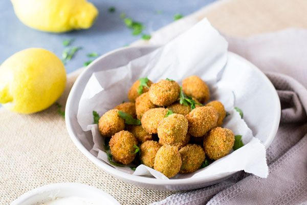 Fried Sausage Stuffed Olives Appetizers on TodaysCreativeLife.com