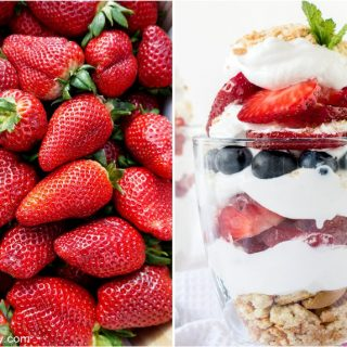 photo collage of 4th of July desserts