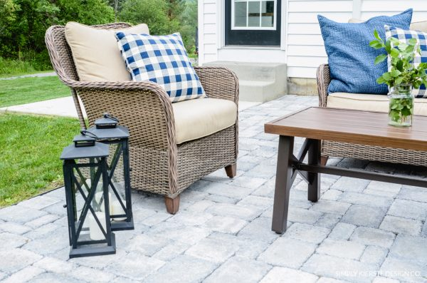Backyard patio Makeover by Simply Kierstie