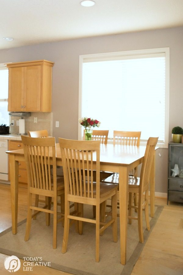 Breakfast Nook Makeover Before and After