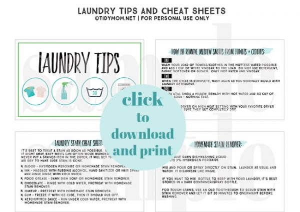 PRintable Laundry Tags from TIdymom.net