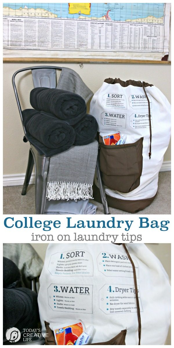Dorm Room Essentials for College | College necessities | Laundry bag Iron On Laundry Tips | Click for more ideas! #BHGLivebetter #sponsored TodaysCreativeLife.com