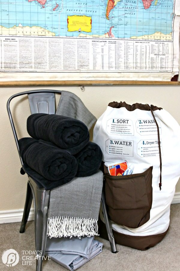 Dorm Room Essentials - Laundry Bag Iron On Tips | Today's