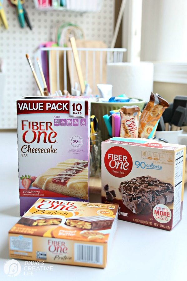 Easy Snack Ideas | Create a secret stash of your favorite treats. High protein and fiber snacks are easy with Fiber One.
