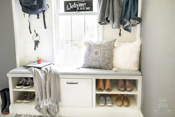 Mudroom makeover by Home Stories AtoZ