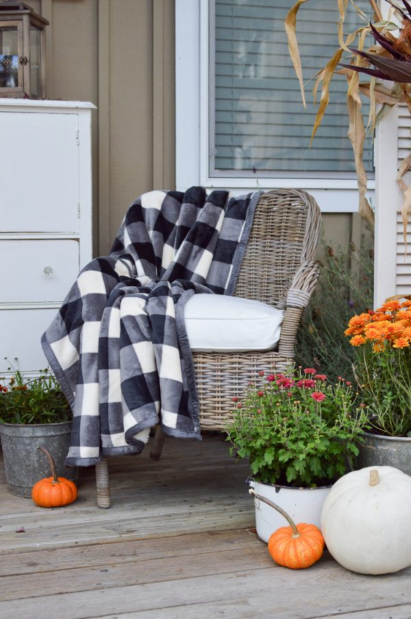 Plum and red mums fall porch home stories a to z Cottage porch decorating ideas