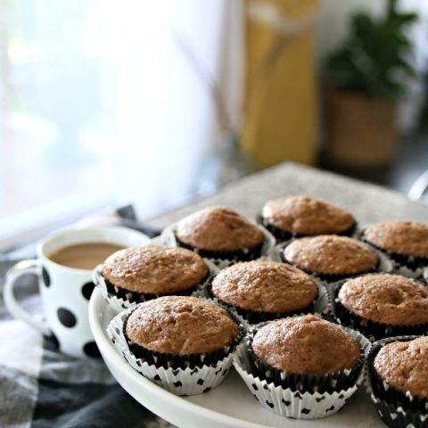 Carrot Banana Walnut Muffin Recipe | Made with Carrot Cake Mix makes this recipe easy and delicious. Breakfast for snack. TodaysCreativeLife.com