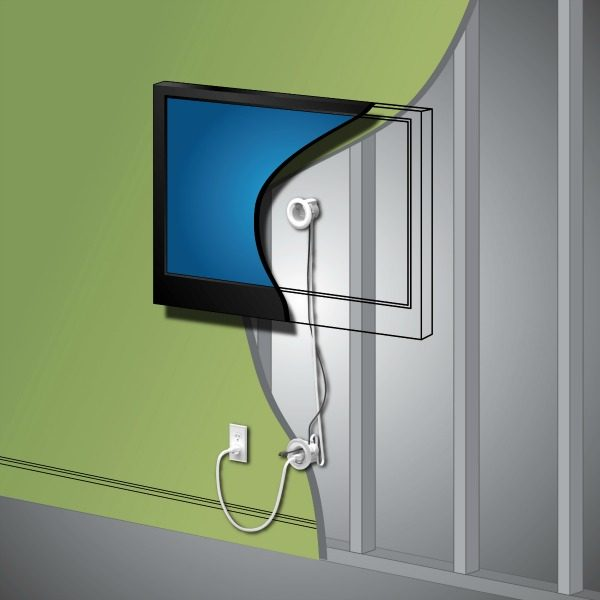 TV Wire Hider | Hide wires easily with this In Wall TV Power Cord & Cable Kit | TodaysCreativelife.com