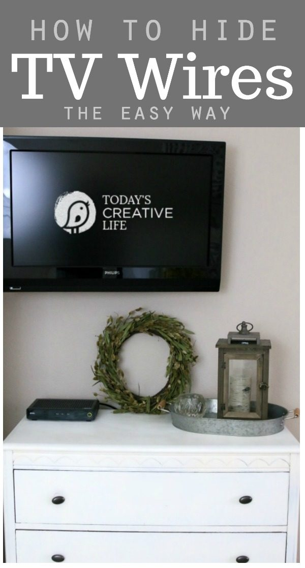 TV Wire Hider | Hide unsightly TV cords, cables and wires with this easy solution. DIY for a wire free look. See more at TodaysCreativeLife.com #ad #diy