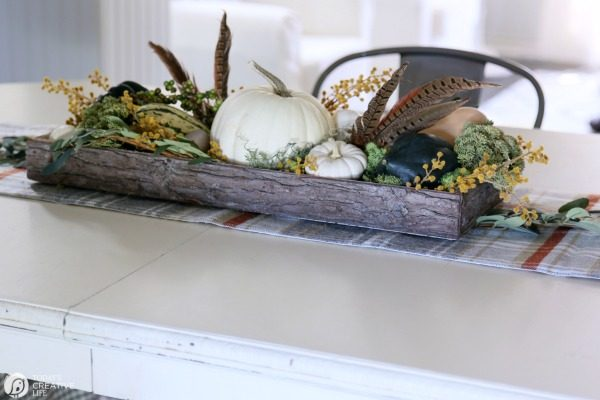 DIY Fall Decor | Easy Table Centerpiece for Fall or Thanksgiving. TodaysCreativeLife.com