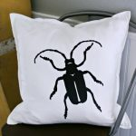 Cricut EasyPress Iron On Beetle Pillow