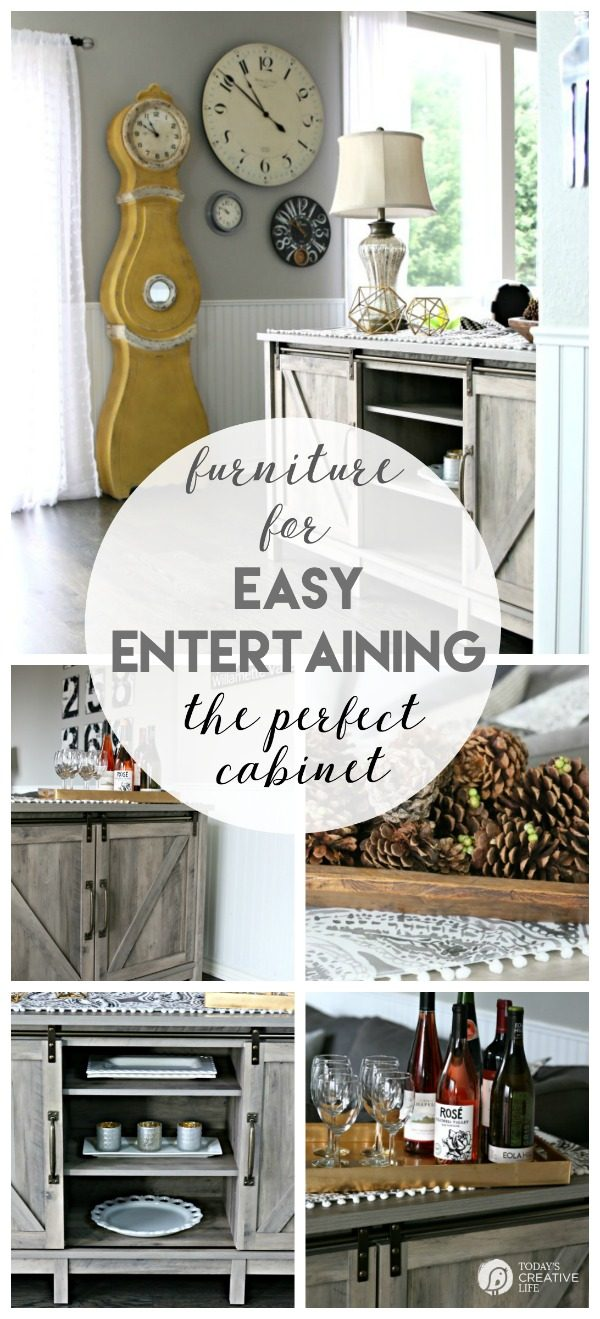 Furniture for Easy Holiday Entertaining | Holiday Party Entertaining | #BHGLivebetter #BHGCelebrate #ad TodaysCreativeLife.com