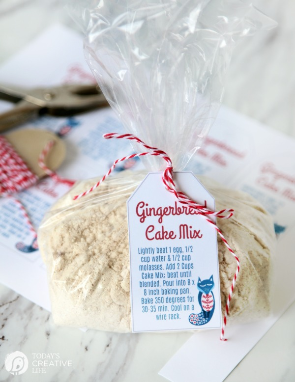 Gingerbread Cake mix | DIY Homemade Gift idea | TodaysCreativeLife.com