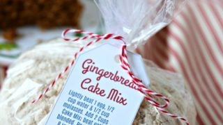 Gingerbread Cake Mix with Free Printable Tag