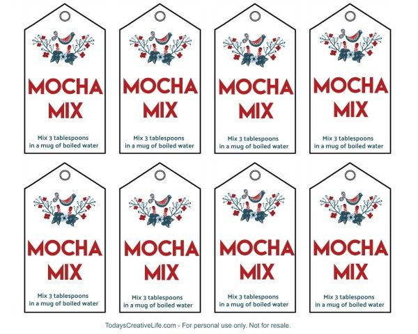 Mocha Mix Free Printable Gift Tags - For personal use only | TodaysCreativeLife.com