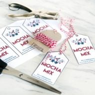 Scandinavian Mocha Mix Gift Tags