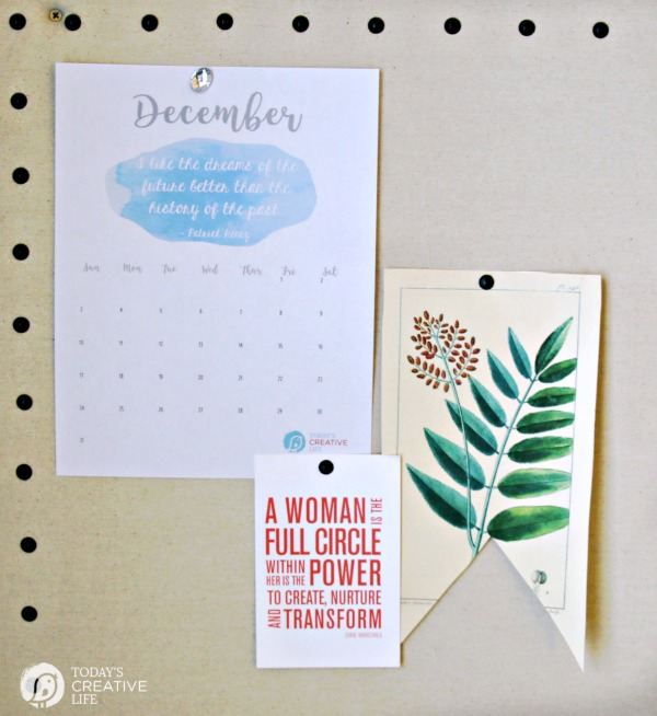 2017 Printable December Calendar