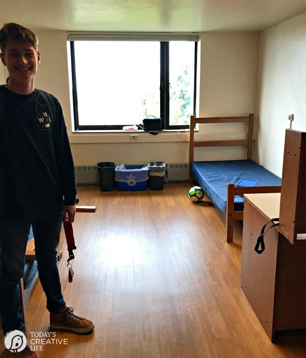 College Dorm Room for Boys Before.