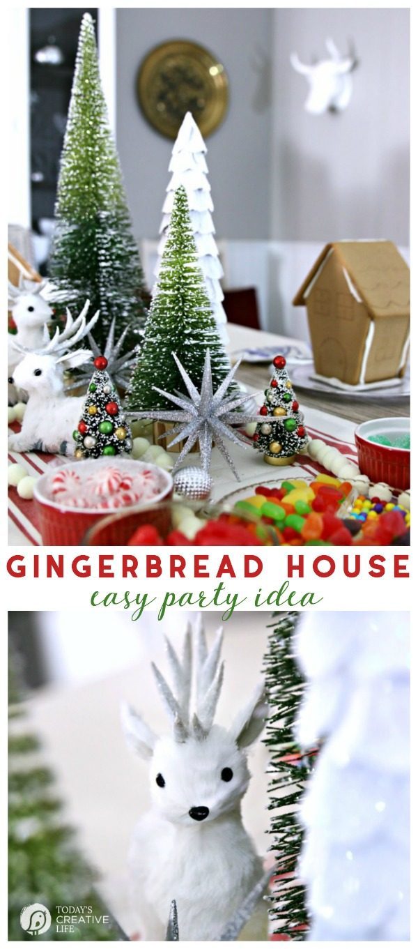 Gingerbread House Decorating Party | Christmas Party Ideas | Holiday Celebrations and Traditions | Christmas cookie and gingerbread house decorating party | TodaysCreativeLife.com