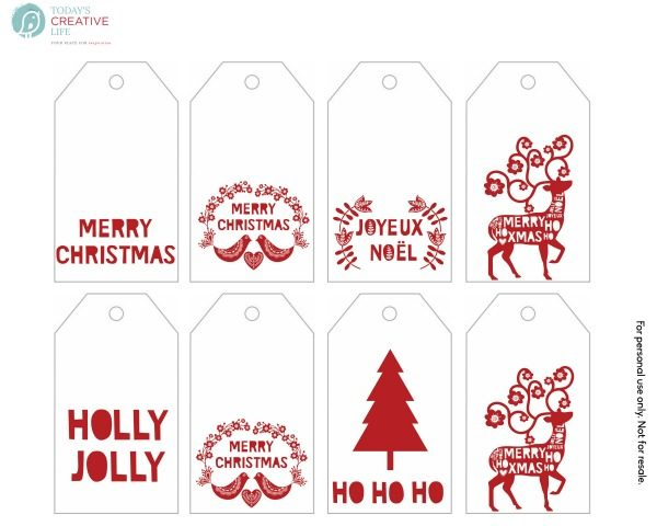 Free Printable Gift Tags | TodaysCreativeLife.com