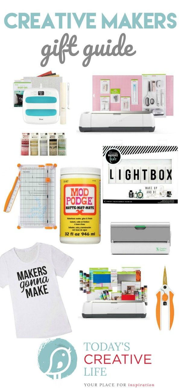 Gift Guide for Crafters | Creative Makers Gift Ideas | Craft Tools | Craft Supplies | Christmas Gift Ideas | TodaysCreativeLife.com