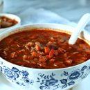 Red Cabbage Kielbasa White Bean Soup