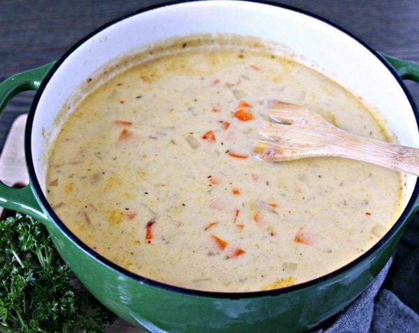 Cheesy german potato soup todays creative life cheesy german potato soup publicscrutiny Images