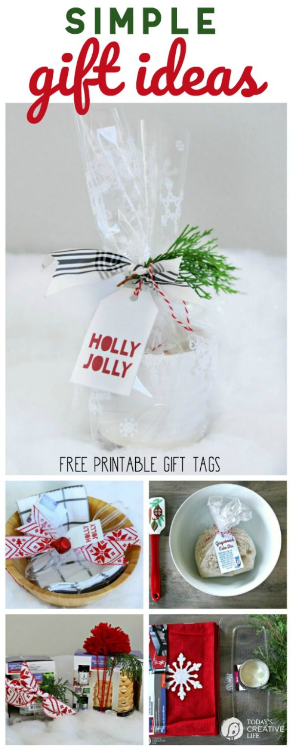 Simple Gift Ideas | Neighbor gift ideas, Teacher Gift Ideas, inexpensive gift ideas. Free printable tags | TodaysCreativeLife.com #ad #bhglivebetter #bhgcelebrate