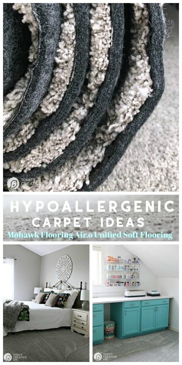 Hypoallergenic Carpet Ideas - Mohawk Air.o Unified Soft Flooring | Recyclable Carpet | Flooring made from recycled materials | Easy to Install | VOC-free | Toxin Free Carpet | Updating old carpet | TodaysCreativeLife.com AD