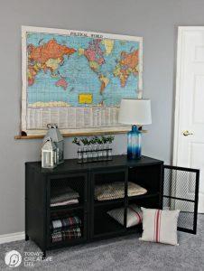 Stylish Storage Solutions | Living room storage | TV Cabinet | Metal TV Cabinet | TodaysCreativeLife.com