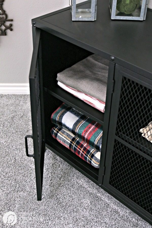 Stylish Storage Solutions | Industrial Metal Storage Cabinet for your Home | TodaysCreativeLife.com
