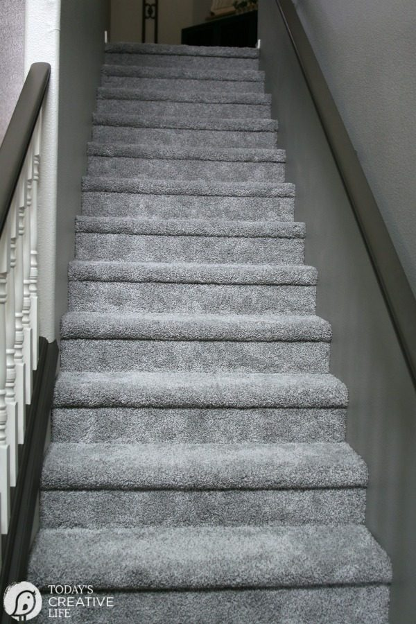 Carpet install for stairs using the Hollywood Method.