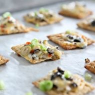 Cheesy Olive Cracker Snacks