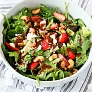Strawberry Gorgonzola Green Salad