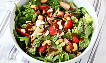 Strawberry Gorgonzola Green Salad