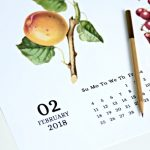 2018 Printable Calendar Vintage Fruit