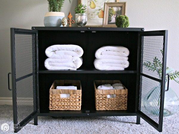 Stylish Functional Home Decor | Practical and beautiful ways to add more storage to your home. TodaysCreativeLife.com