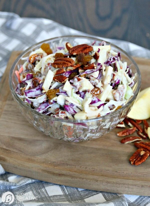 Fruity Cabbage Salad Recipe | Spring & Summer Salad | Easter Salad | Brunch Fruit Salad | Easy Fruit Salad Recipe | TodaysCreativeLife.com