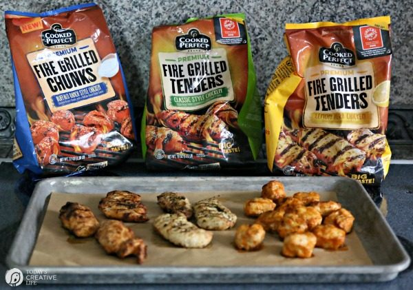 Cooked Perfect Fire Grilled Chicken for Easy to Make Party Food. | TodaysCreativeLife.com