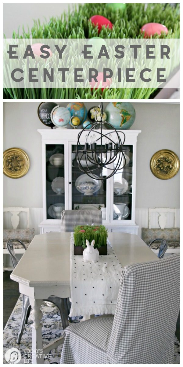 Easy Easter Table Decorations Centerpiece   Easter Decorating Ideas   Budget friendly Decor   Easter Tablescapes Ideas   TodaysCreativeLife.com