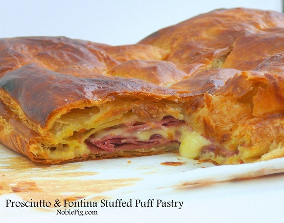 Proscuitto Fontina Stuffed Puff Pastry by Noble Pig